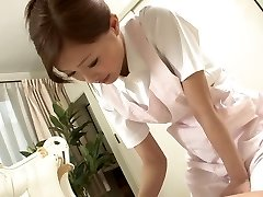 Super-sexy Nurse jerks her patient's cock as a treatment