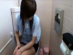 Office Dolls Getting Into Toilet Masturbation