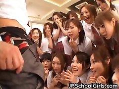 Glorious Japanese schoolgirls exploring