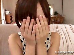 Ayumi Kimino داغ آسیایی می شود بیدمشک ضرب دیده