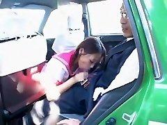 Nasty Japanese girl Hime Orihara in Incredible Blowjob, Car JAV clip