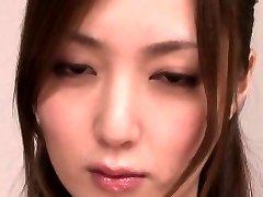 Japanese milf sucking man rod before facial