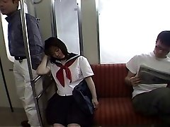 Seducing a schoolgirl in the tramway
