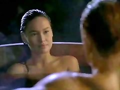 Japanese Tia Carrere heads for Dolph Lundgrens Big Blond Cock
