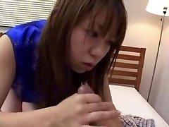 Japanese CFNM Handjob