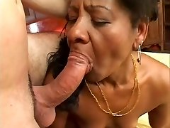 Ethnic Cougar Takes It Stiff From The Back