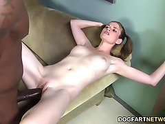 Kate England does threesome with two monster black cocks