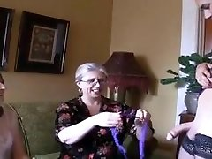 Two super-steamy grannies and ladyboy
