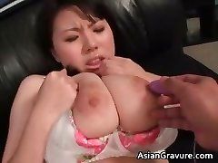 Cute japanese babe with thick juggs gets part2