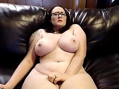 Thick, Busty enormous tits, pale girl with tattoo masturbating