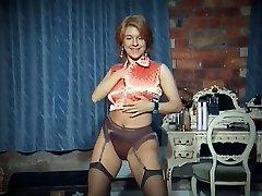 Homosexual - vintage big tits strip dance tease in stockings