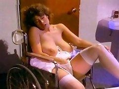 Retro Classic - White Lacy Thong Masturbation