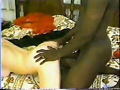 Classic Interracial - Hot Brunette Gets A Big Ebony Hard-on.elN