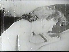 Hot slut sucking vintage man meat