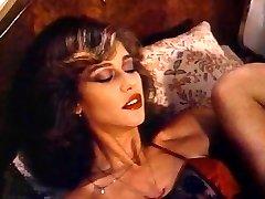 Retro Classic - Lady in Satin Underwear Pleasuring Herself