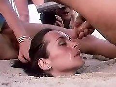 Crazy homemade Outdoor, Facial adult pinch