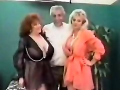 Vintage FFM Threesome With Mature Women