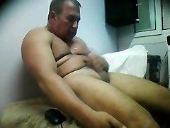 hairy man selfsuck