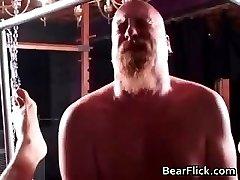 Hair gay bear in a hardcore BDSM fuck part5