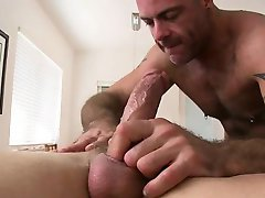 Stroking a lusty gay weenie