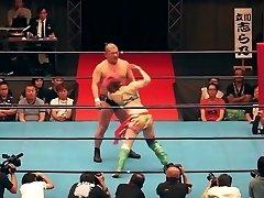 Sizzling mingled wrestling