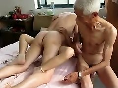 Impressive Homemade video with 3some, Grannies scenes