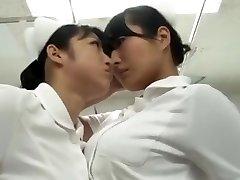 japanese catfight Nurse stockings fight Battle