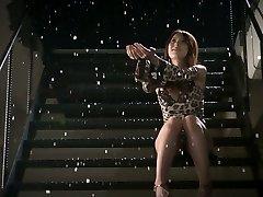 Romantic jap honey Yui Hatano gets two small cocks to fellate