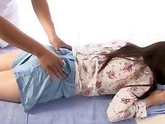 gek japans meisje yuina kojima in de heetste vingeren, massage jav scene