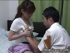 Sexy asian with meaty breasts home teacher part1