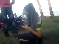 Malay couple outdoor bang-out