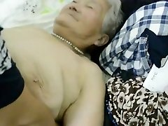 80year elderly Japanese Granny Still gets Creamed (Uncensored)