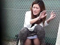 Oriental fuckslut pee public