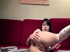 AmateurHot Asian Bottles Her Backside On Webcam
