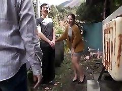 japanske tenåringen natt utendørs pussyfingering