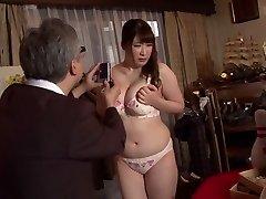Insane Japanese bi-atch Chitose Saegusa in Crazy public, striptease JAV video