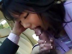 Horny Japanese dame Miu Katahira in Best Car, POV JAV clip