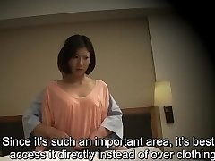 Subtitled Japanese hotel massage fellatio fuck-a-thon nanpa in HD