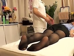 Ultra-cutie with hairy vagina visits her doctor and gets fingered