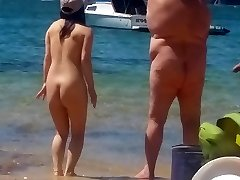 Asian female at naked beach  Sydney part 2