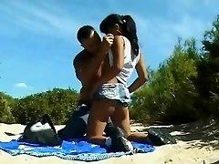 Nude Beach - Little Baps Asian Analized & CIM Facial Cumshot