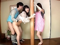 Subtitled Japanese risky fuck-fest with sensuous mother in law