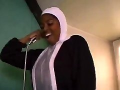 African French nun sucking and fucking big black rods