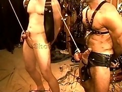 Five man sensual CBT, BDSM orgy featuring hunks and otters. pt 1