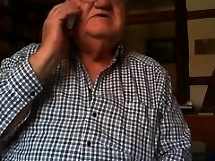 gandpa demonstrate on webcam