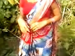 Indian Village Lady With Natural Hairy Slit Outdoor Fuck-fest