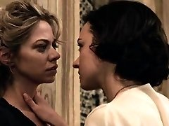 Analeigh Tipton and Marta Gastini in girl/girl hookup scenes