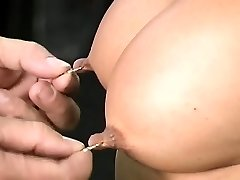 Gal endures bondage lovemaking at home in non-professional video