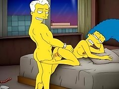 Cartoon Pornography Simpsons Porn mom Marge have