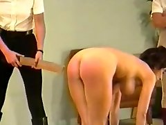 2 dommes slap & string busty girl (Part 3)